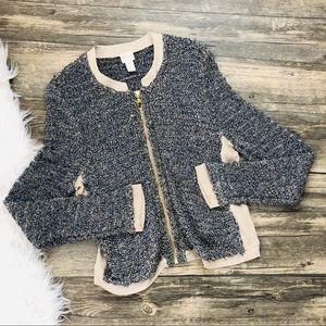Chico's   ZIP Sweater Jacket Size 1 (J03)